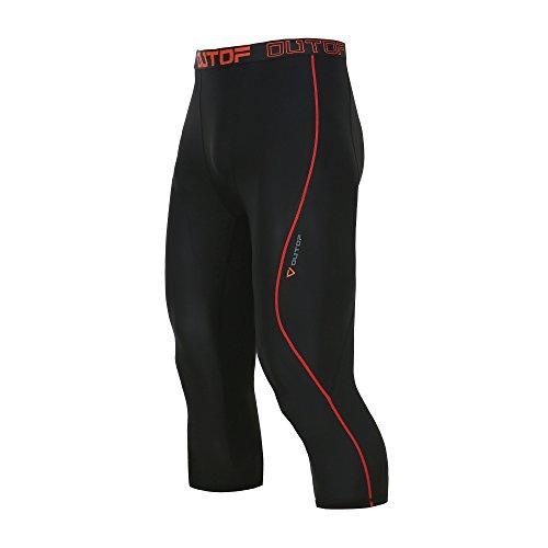 OUTOF Mens Compression 3/4 Capri Shorts Baselayer Cool Dry Sports Tights Running Yoga Pants MPC5217
