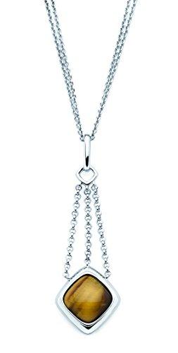 (Boston Bay Diamonds 925 Sterling Silver Tiger Eye Drop Pendant Necklace, 17