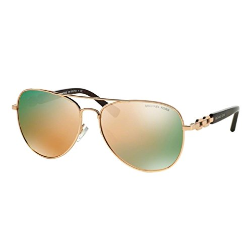 Michael Kors FIJI MK1003 Sunglasses 1003R5-58 - Rose Gold Frame, Rose Gold Mirror - Eyeglass Frames Shopping Online