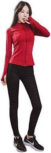 レディースジャージ上下セット 女性用2個トラックスーツ長袖トップロングパンツジャンプスーツ衣装セットスポーツ (Color : Red, Size : S)