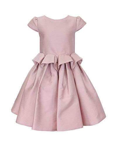 Mayoral jurk van jacquard, roze