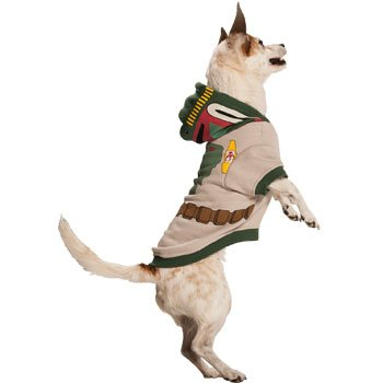 STAR WARS Boba Fett Dog Hoodie (Large)