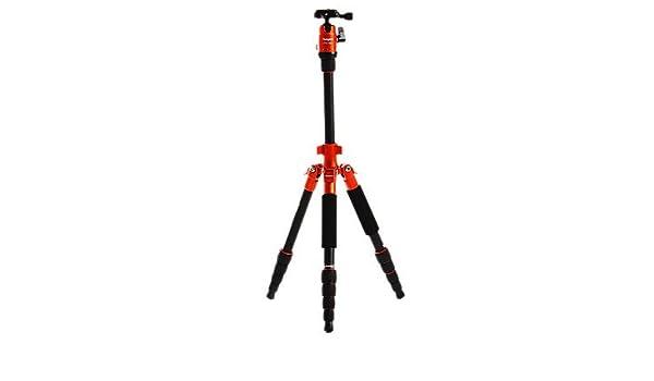 Fotopro X4i-E viaje exterior de aluminio, aleaciones de magnesio telescópica de trípode para cámara de fotos réflex digital () naranja: Amazon.es: ...