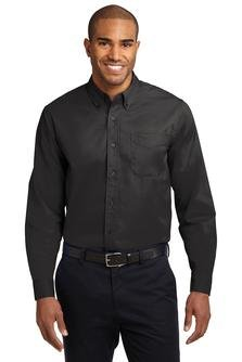 Port Authority Long Sleeve Easy Care Shirt, Black, L from Port Authority