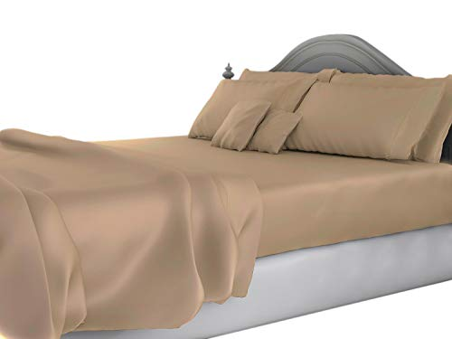 King Size Sheets Luxury Soft 100% Egyptian Cotton - Sheet Set for King Mattress Taupe Solid 15 Deep Pocket # Exotic Bedding Collection