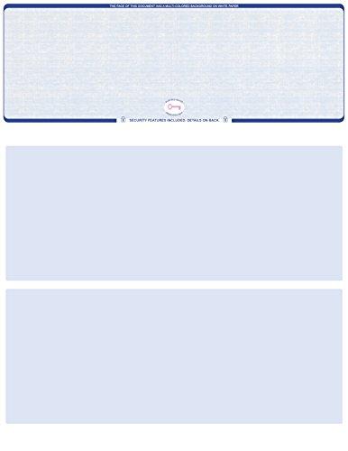 250 High Security Blank Computer Checks (Blue (250 Checks)