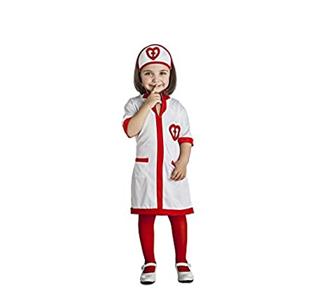 Disfraz de Enfermera Corazones para niña: Amazon.es ...