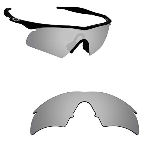 Alphax Silver Titanium Polarized Replacement Lenses for Oakley M Frame Hybrid
