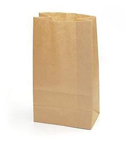 Yearol K02 50 bolsas papel kraft marrón. 28*18*11 Para bocadillos, sandwich, merienda, palomitas, croissant, churros, chuches, regalo, alimentos, ...