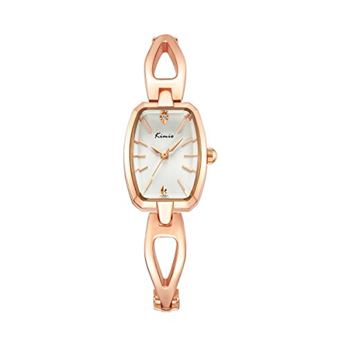 Dial Bracelet Dress Watch - FSMIO BV6834 Women's Rose Gold Wrist Watch with Small Crystal Dial and Hollow Bracelet Casual Simple Dress Watches
