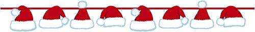 Creative Converting Ribbon Banner, Santa Hats, Clear