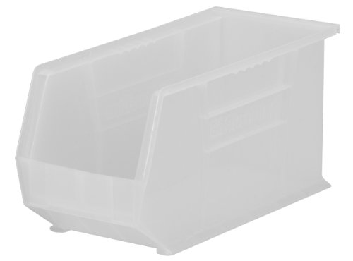 Akro-Mils 30265 Plastic Storage Stacking AkroBin, 18-Inch by 8-Inch by 9-Inch, Clear, Case of 6 by Akro-Mils