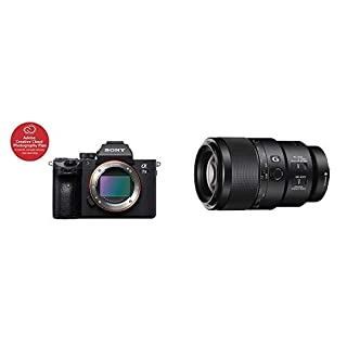 """Sony a7 III Full-Frame Mirrorless Interchangeable-Lens Camera Optical with 3"""" LCD, Black (ILCE7M3/B) - ICLE7M3/B with Sony SEL90M28G FE 90 mm f/2.8-22 Macro G OSS Standard-Prime Lens (B07PX7RQJ6)   Amazon price tracker / tracking, Amazon price history charts, Amazon price watches, Amazon price drop alerts"""