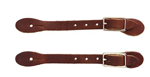 Supreme Western Toddler Spur Straps Genuine Leather Cowboy Boots Kids Children Made in USA Brown