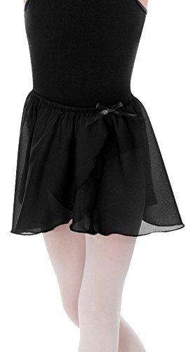 Body Wrappers Big Girls TPRD WRAP SKIRT 129 -BLACK S-M