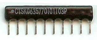 Resistor Networks /& Arrays 100ohms 8Pin 2/% Isolated 50 pieces