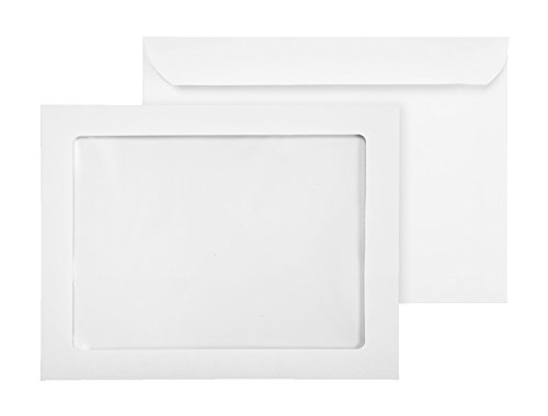9 x 12 Full Window Booklet Envelopes-Showcase Headshot Clear Window 9x12 Envelope-28 Lb Bright White (55/Box)