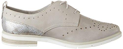 Jana 23200, Zapatos de Cordones Oxford para Mujer Gris (Lt. Grey 204)