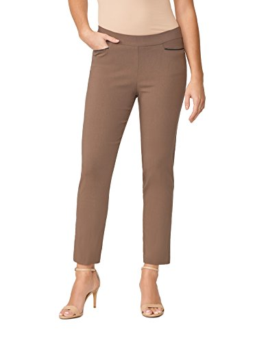 89th&Madison Woven Leather Trim Tapered Ankle Pants by 89th&Madison