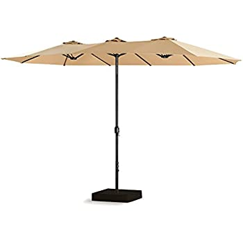 Wonderful PATIO TREE 15 Ft Outdoor Umbrella Double Sided Market Patio Umbrella With  Crank, 100