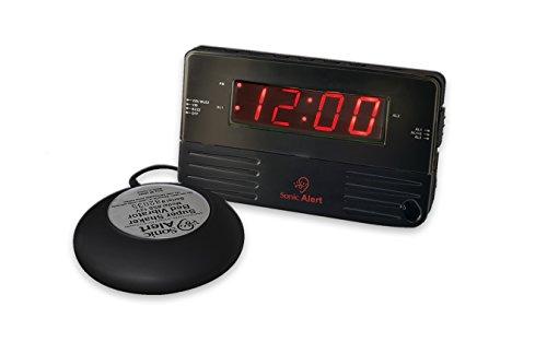 Sonic Alert Black Travel Shaking Vibrating Alarm Clock SB200 (Shaking Alarm)
