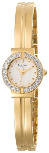 Bulova Women's 98T94 Swarovski Crystal Accented Bangle Watch with Matching Pendant and Earrings Gift Set - Ladies Bulova Two Tone Bangle Watch