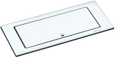 2 x prise de chargement USB avec contour blanc Acier inoxydable brossé double prise