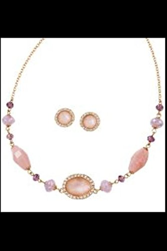 Avon Misty Pink Necklace and Earring Gift Set