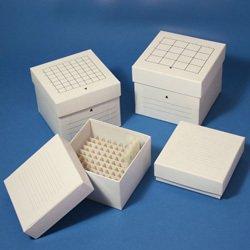 Stellar Scientific Cardboard Freezer Box - for 15mL tubes, 49 places with divider, 5.7'' L x 5.7'' W x 4.8'' H, 36/CS