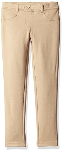 (Dockers Plus Girls' Uniform Jegging, Khaki, 10.5)
