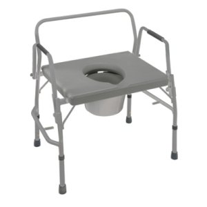 Brigss HealthCare DMI Extra-Wide Heavy-Duty Drop-Arm Steel Commode (Seat size : 23'' x 18-1/2'')