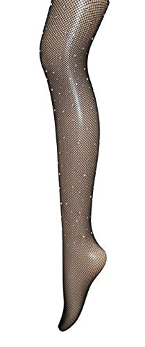 Nude Rhinestone Fishnet Tights Nylon Stockings Pattern Tights Pantyhose Plus Size For Women 6 Pack]()