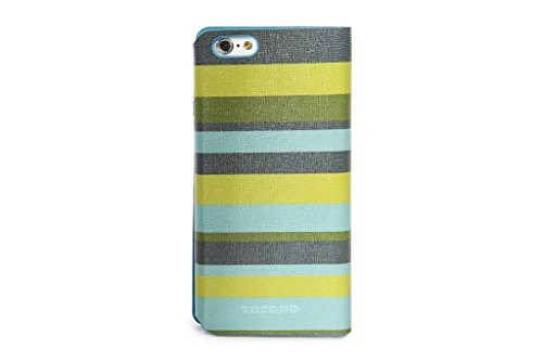 Tucano Leggero Stripes Booklet Case grün für iPhone 6 / 6S