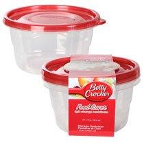 Betty Crocker Round Plastic Food Saver Storage Containers, 2-ct. Packs
