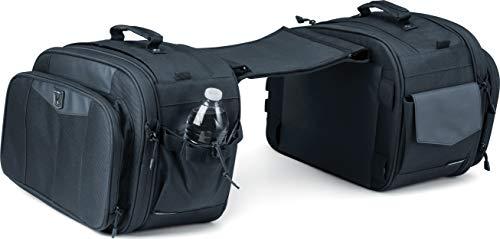 Kuryakyn 5209 Momentum Outrider Expandable Motorcycle Travel Luggage: Weather Resistant Throw-Over Saddlebags, Black