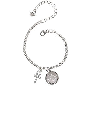 Small Ankh Sisters Are Best Friends Forever Engraved Bracelet