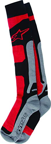 Alpinestars Men's 4702114-311-LXL Sock (Coolmax) (Red/Grey, ()