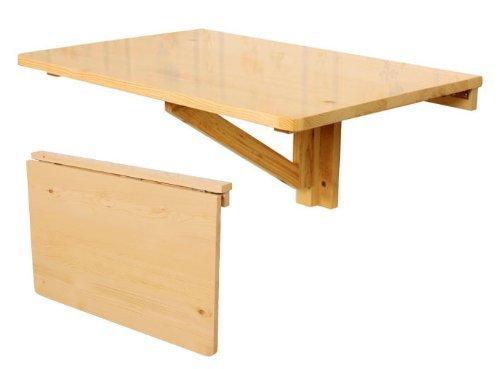 SoBuy FWT03-N Table pliable, Table murale rabattable en bois, table pour chambre d'enfant, couleur transparente