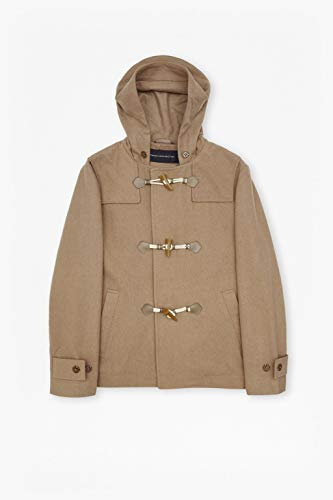 French Connection New Camel Brown Wool Blend Marine Melton Duffel Coat Size 2XL