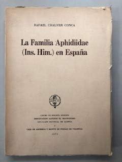 La familia Aphidiidae (Ins. Him.) en España: Amazon.es: Chalver Conca, Rafael: Libros en idiomas extranjeros