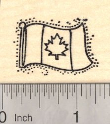 Maple Leaf Flag Rubber Stamp, Flag of Canada