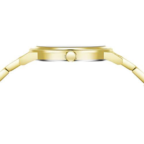 Cardqiou Women Watch, Stainless Steel Watch, Waterproof Quartz Dress Wristwatch by Cardqiou (Image #4)