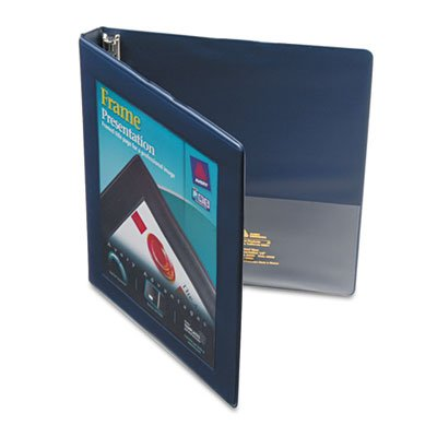 Ring Slant Free Gap (Framed View Binder with Gap Free Slant Rings, 1/2'' Capacity, Navy Blue, Total 12 EA, Sold as 1 Carton)