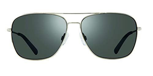 Revo Men's Polarized Sunglasses Harbor Navigator Frame 60 mm Aviator, Chrome, ()