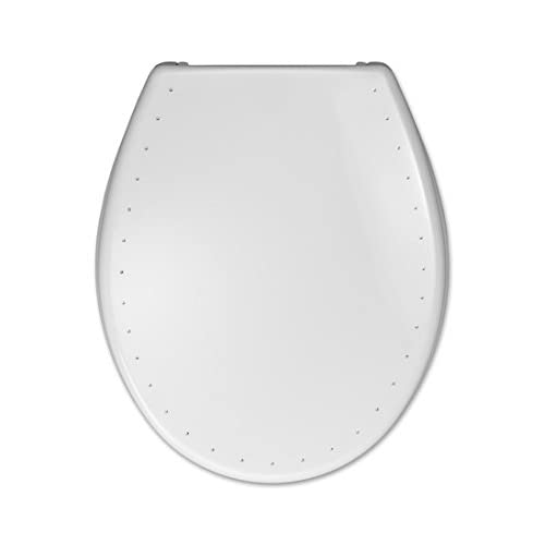 durable modeling Hamberger Costa 529608 Toilet Seat with Lid Diamond White with Soft Close and Stainless Steel FastFix Fitting by Hamberger