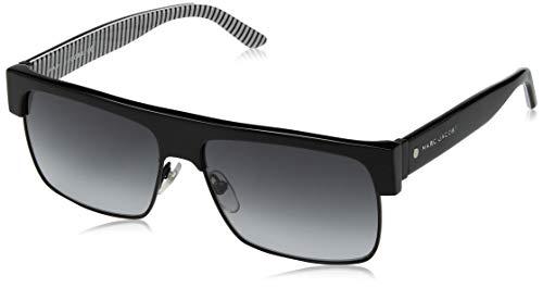 Marc Jacobs Men's Marc56s Rectangular Sunglasses, Black/Gray Gradient, 57 ()