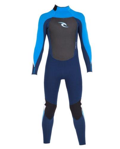 Rip Curl Youth Dawn Patrol 3/2 GB Wetsuit, Navy/Blue, 16