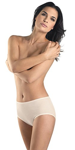 HANRO Women's Cotton Seamless Full Brief Panty, Pale Cream, Small
