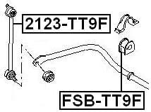 FEBEST 2123-TT9F Front Stabilizer//Sway Bar Link