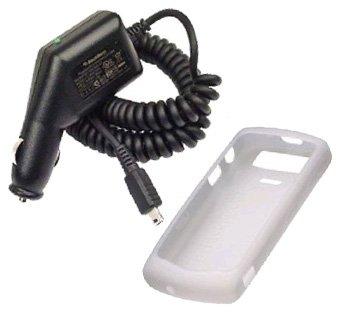 Blackberry Silicon Skin Case for Blackberry 8120/8130 Pearl Series - White